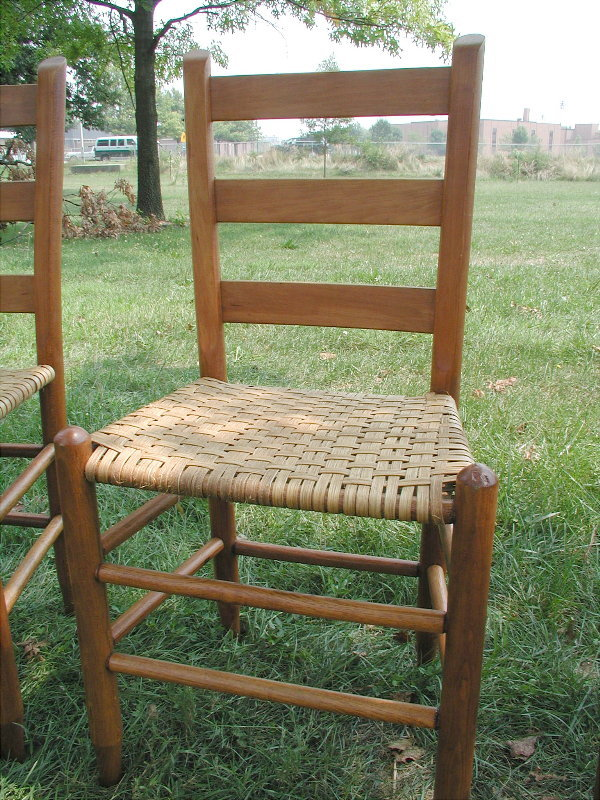 Ladder Back Cane Bottom Chair - Untitled Document