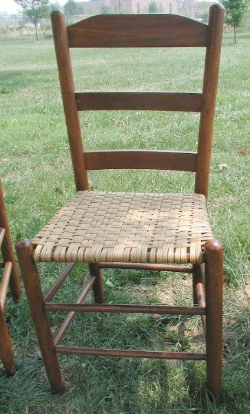 Ladder Back Cane Bottom Chair
